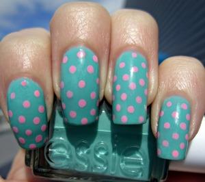 Polka Dot Nails! http://electricallure.blogspot.com/2012/03/polka-dots-huge-nail-polish-haul.html
