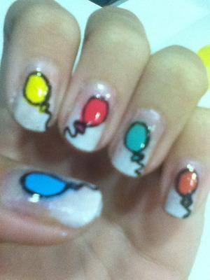 Birthday nails 17 :)