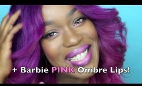 #BARBIE PINK OMBRE Lips   Great for #DarkSkin & #WomenofColor