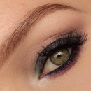 Colored smokey eye closeup