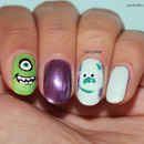 Monsters Inc. Nail Design