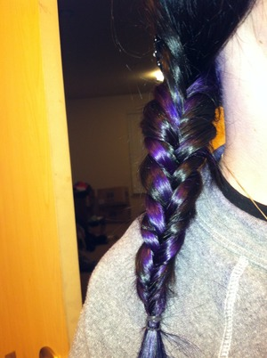Really loved the way the braid looked with purple!