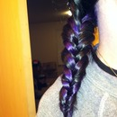 Braid with my new purple and black hair :)