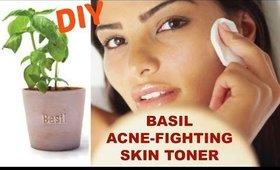 Natural Acne Remedy - DIY Basil Skin Toner - Ms Toi