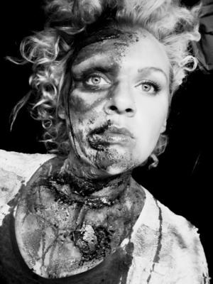 B&W - Zombie Marie Antoinette Inspired Look. Brisbane Zombie Walk 2011.