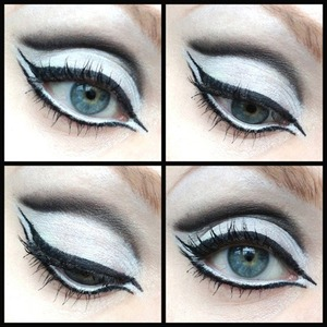 Fun with black and white eyeshadows and eyeliners!