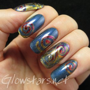 Read the blog post at http://glowstars.net/lacquer-obsession/2015/02/foil-swirls-on-holo/