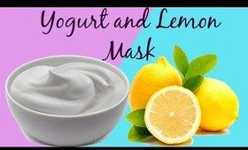 Yogurt and Lemon Mask reduces blemishes & scars-reduce fine lines & wrinkles get fresh glowing skin