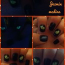 Glow in the dark cat eye nails