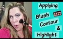 Applying Blush, Contour and Highlighter Tutorial