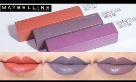 Maybelline Super Stay Matte Ink Liquid Lipstick Swatches
