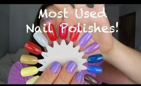 Most used polishes & nail care tips!