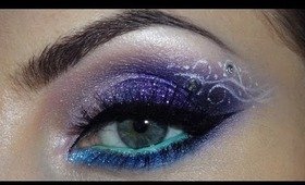Purple, pink, blue glittery makeup (ft Sigma's Performance Eyes Kit)