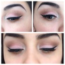 Soft neutral pink look