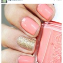metallic with salmon pink