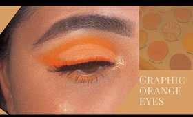 Orange cut crease & liner- ORANGE YOU GLAD? Colourpop palette