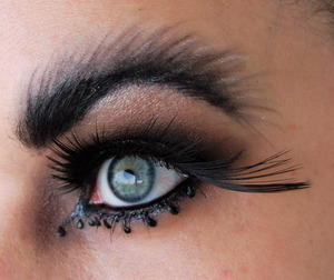 This look was inspired by the movie Black Swan.