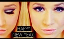 NYE Deep Purple Cut Crease + Gold Glitter Makeup Tutorial Featuring Kat Von D's Ladybird Palette