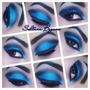 Blue dramatic cut crease.