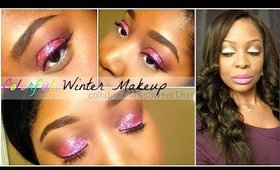 Colorful Winter Makeup Collab w/ MissSweetChar♡