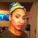 Sweats on, hair wrapped, chillin with hella makeup on :)