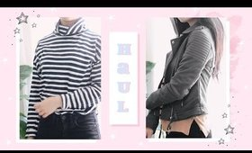 a quick collective try-on haul ft. stripes // early spring