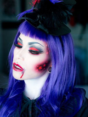 A photo from my latest vampire tutorial. Slightly inspired by my Hunger Games videos.