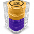 Yellow & Purple eyes, lips and face by Rally Girl Makeup