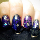 'Dark Fairy' themed nails
