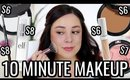 MY 10 MINUTE MAKEUP ROUTINE USING DRUGSTORE MAKEUP! SUMMER 2019