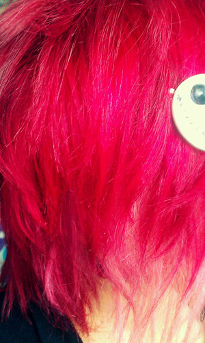 When I first colored my hair. SO vibrant!  Adore Semi-Permanent Hair Color.