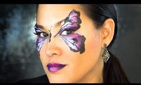 How to Face Paint: Purple Butterfly