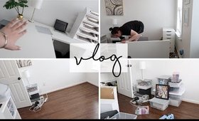 TAKING APART MY OFFICE - Vlog July 12 & 13th