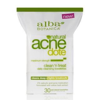 Alba Botanica NATURAL ACNEDOTE clean 'n treat towelettes