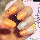 Peach and silver