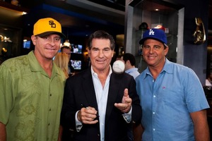 Steve Garvey on the set of Sycuan Casino commercial