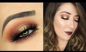 Orange and Gold Halo Smokey Eye Makeup Tutorial