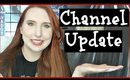 Quick CHANNEL UPDATE - My First Video Schedule & Thank you for 1200 subs!