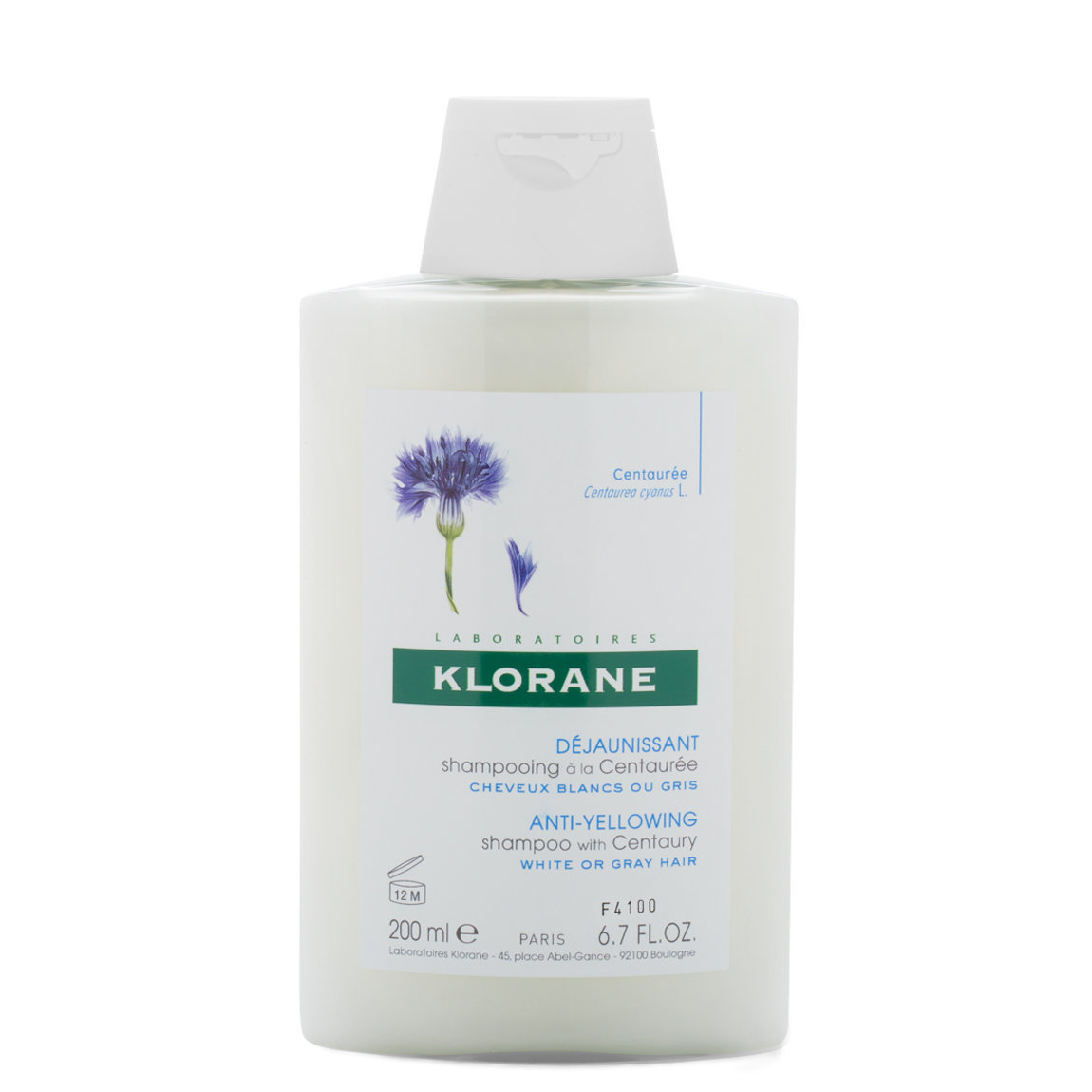 Klorane Shampoo with Centaury product swatch.