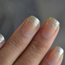 Glitter Tipped French Manicure