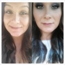 Before & After prom makeup :)