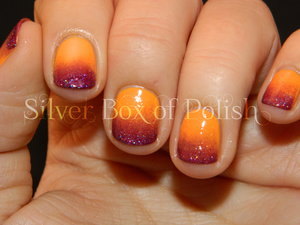 A bright, Summery, sunset gradient design.