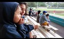 Watching the Semi Pro Baseball Game and Fun at the Park - My World, Vlogs 05.29.13 and 05.30.13