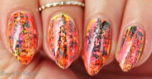 Neon dry brush nails http://www.beautybykrystal.com/2014/06/the-beauty-buffs-neon-everything.html
