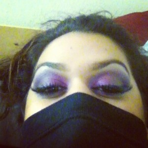 i love mixing pink with purple. i used bsc corrector in light then some mac eyeshadows and bhcosmetics 120 palette