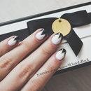 Black & White Triangle Nails ● Nail Art