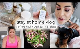 SELF-CARE HAUL, AT HOME WORKOUT + HEALTHY TACOS | queencarlene vlogs