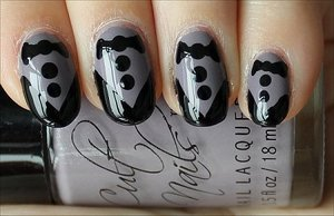 Nail Tutorial & More Photos Here: http://www.swatchandlearn.com/nail-art-tutorial-tuxedo-nails/