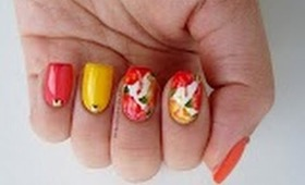 Nail Art Tutorial: Hibiscus Flowers