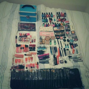 Sorting out my makeup and just chucked out loads and here is what I have left:)